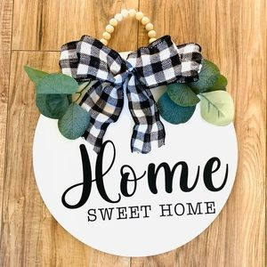 🎀DECORATIVE WOOD SIGN HOME🎀